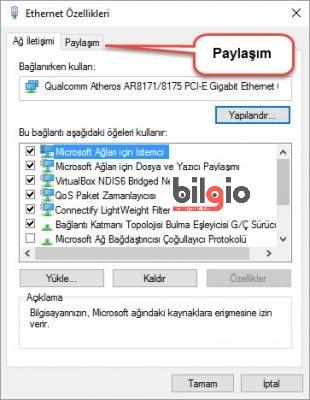 Bilgisayarı modem olarak kullanma windows 10