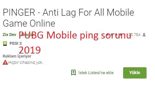 PUBG Mobile ping sorunu 2019