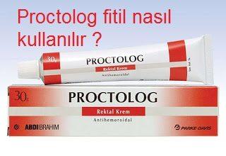 Proctolog fitil nasıl kullanılır