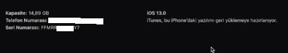 ios 13 den 12 ye dönüş