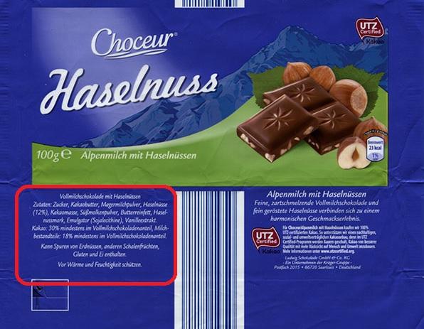 Haselnuss çikolata domuz yağı var mı